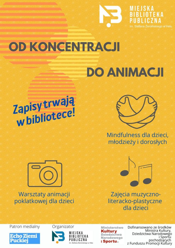 plakat warsztatów odkoncentracji doanimacji